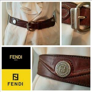 Authentic Vintage Fendi FF Scroll Belt